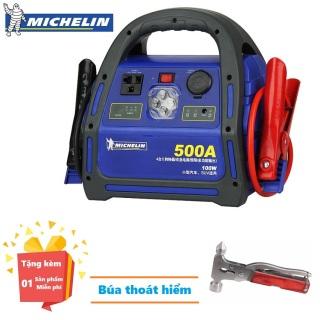 ( Quà tặng Búa thoát hiểm dự phòng trên tivi ) Bộ Kích nổ ô tô chuyên dụng Michelin 8564ML 500A - Bộ Kích nổ ô tô chuyên dụng Michelin 8564ML 500Amp Phát Điện 220V 100W - Bộ Kích Bình Ắc Quy - Bảo hành 12 tháng thumbnail
