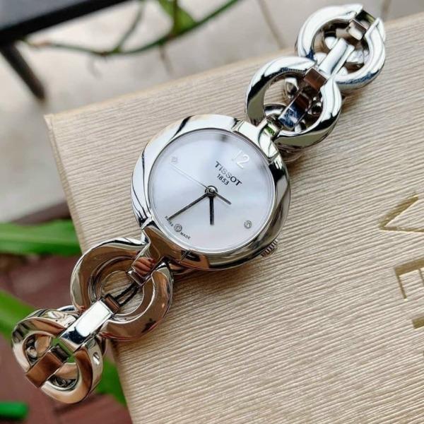 Nơi bán [MUA 1 TẶNG 1] Đồng hồ nữ dây kim loại TI$$OTT T084.210.017.00 Size 28mm, Đồng hồ nữ mặt tròn chống nước, Đồng hồ nữ cao cấp