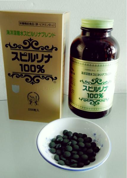 Tảo Xoắn Spirulina Nhật Bản (100 viên + tặng kèm que đắp mặt nạ)