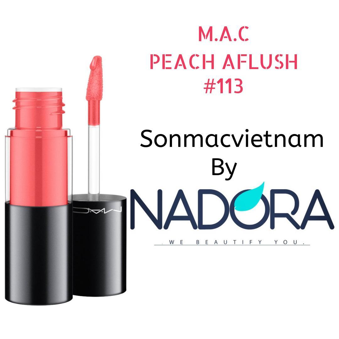 Son MAC Versicolour Varnish Cream Lip Stain – 107 Peach Aflush tốt nhất