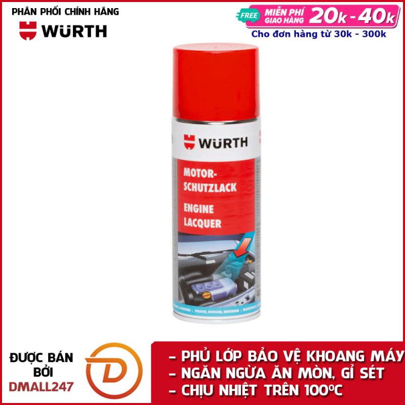 Chai xịt phục hồi và phủ bảo vệ khoang máy ô tô chuyên dụng Wurth WU-KM400 - Dmall247, chăm sóc xe chuyên dụng