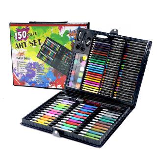 Bút chì màu 150 chi tiết cho các bé màu đen thumbnail