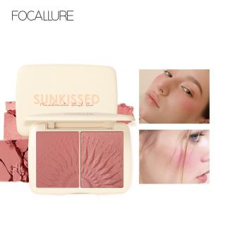 Hộp phấn má hồng và phấn bắt sáng 2 trong 1 FOCALLURE dạng bột mềm mịn, lâu trôi giúp làm sáng nổi bật khuôn mặt - INTL thumbnail