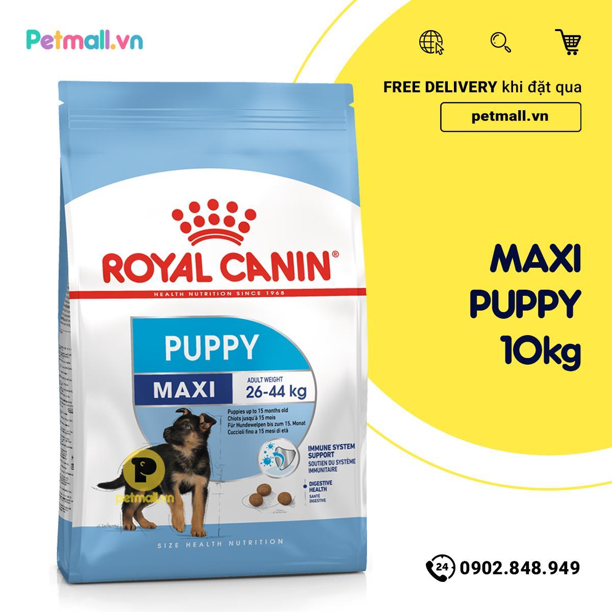 Thức ăn Chó Royal Canin MAXI PUPPY 10kg Với Giá Sốc