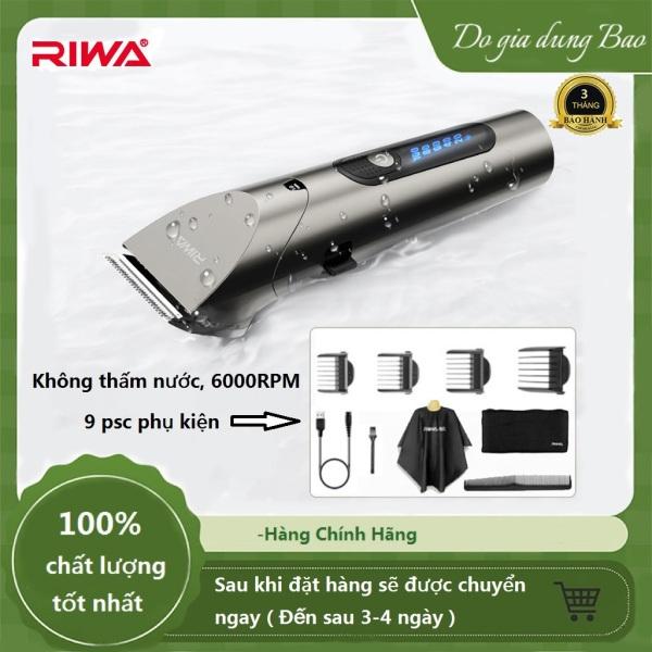 RIWA RE-6305 Tông đơ cắt tóc chuyên nghiệp có thể sạc lại được RIWA RE-6305 với đầu cắt bằng thép carbon -Bảo hành 3 tháng