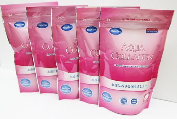 Combo 5 Thực Phẩm Chức Năng Aqua Collagen Nguyên Chất Từ Cá Bổ Sung Collagen Peptide Sinh Học Cho Cơ Thể (100g / Túi x5)