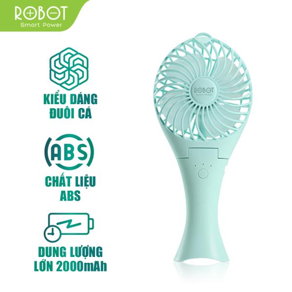 [Bảo Hành 12 tháng] Quạt Mini ROBOT RT-BF07 quạt sạc USB có thể làm pin sạc dự phòng Pin sạc 2000mAh với 3 cấp độ gió siêu nhẹ- Hàng chính hãng