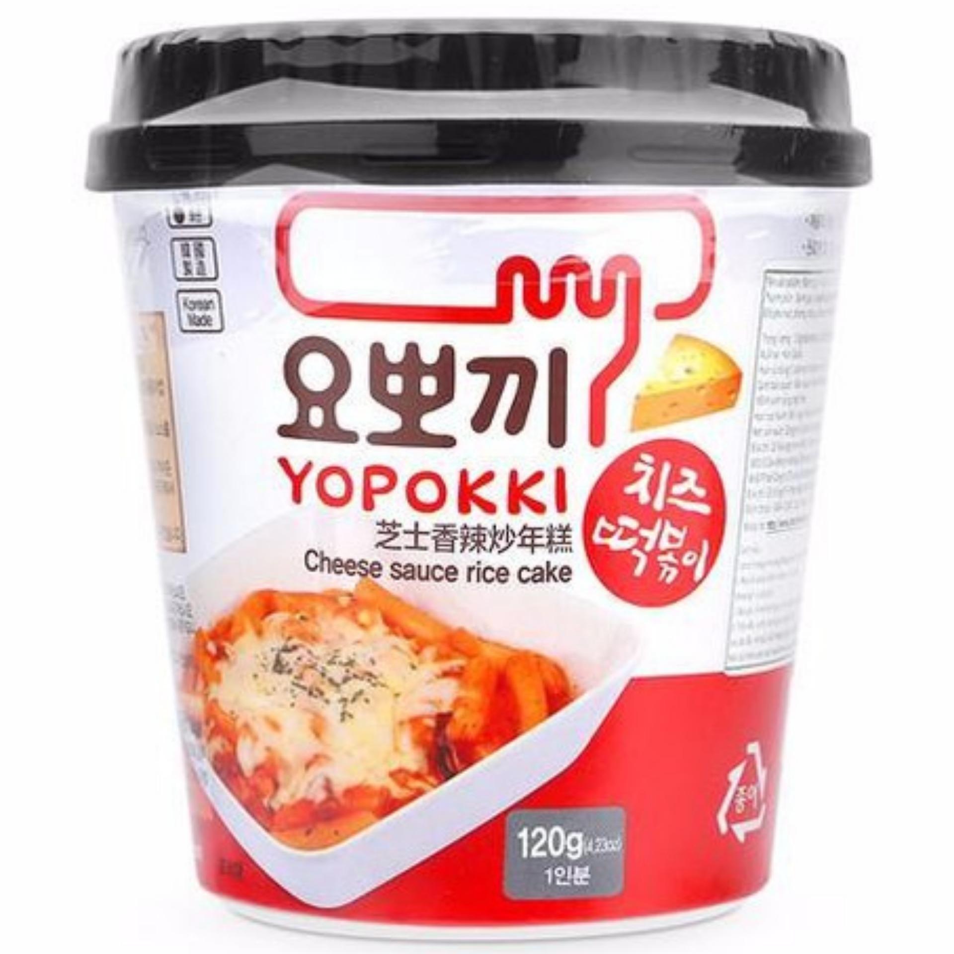 Bánh Gạo Hàn Quốc Yopokki Vị Phomai Cốc 120gr Giá Cực Cool