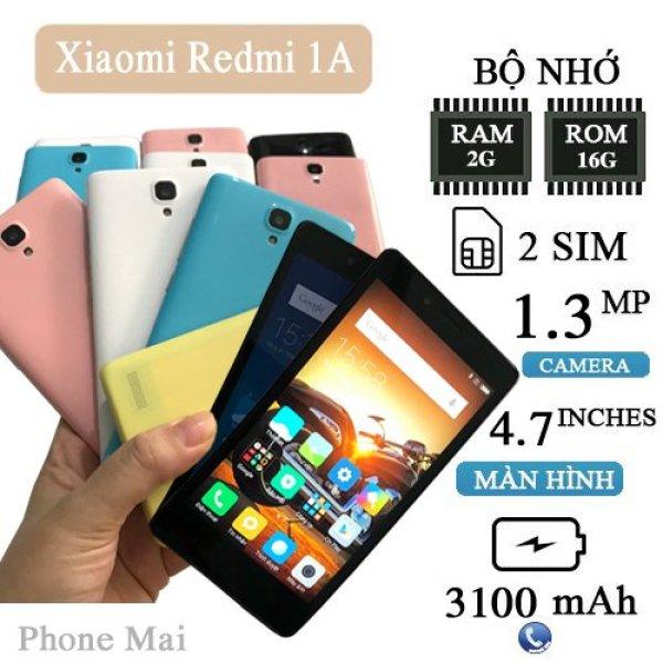 Điện thoại Xiaomi Redmi 1S 2sim ram 2g rom 16g có nguyên zin, đẹp, giá rẻ.. chơi game liên quân freefire mượt