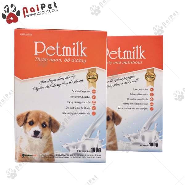 Sữa Bột Dinh Dưỡng Cho Chó Pet Milk Green Pet 100g
