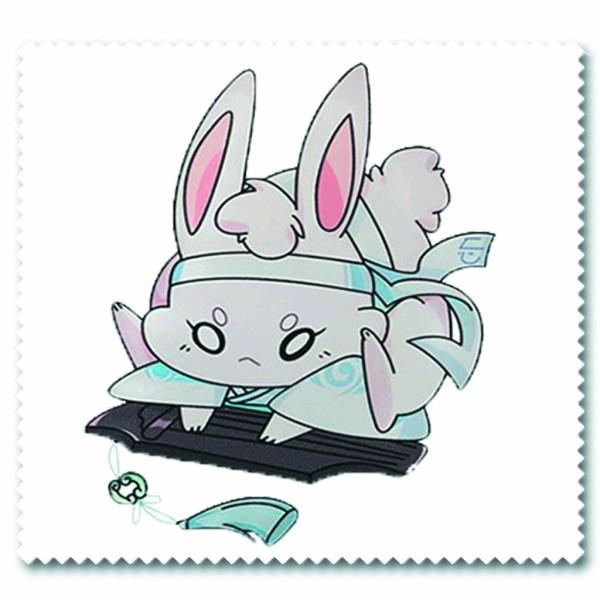 Giá bán Khăn lau kính IN HÌNH nhân vật thỏ đen trắng Ma đạo tổ sư anime chibi quà tặng xinh xắn dễ thương