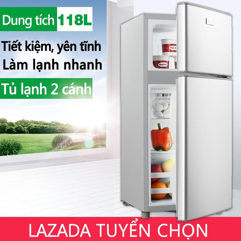Bảng giá Tủ lạnh 2 ngăn 118 lít thương hiệu ZHIGAO làm lạnh nhanh ngăn đá và ngăn lạnh giữ đồ luôn tươi mới Điện máy Pico