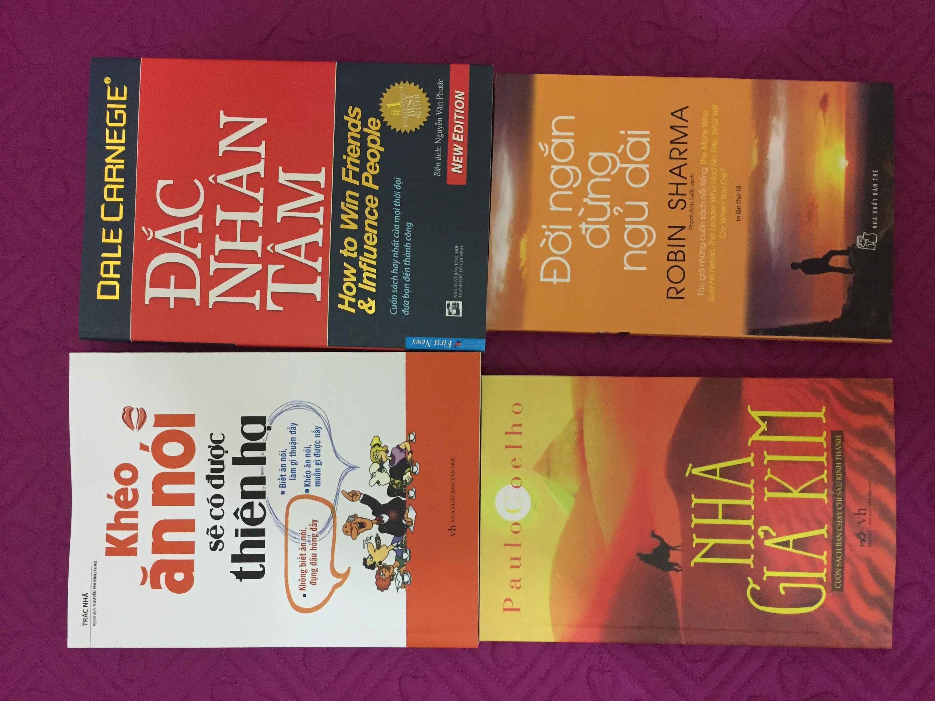 Mua Combo 4 sách kĩ năng: Khéo ăn nói, Đắc nhân tâm, Nhà giả kim, Đời ngắn đừng ngủ dài