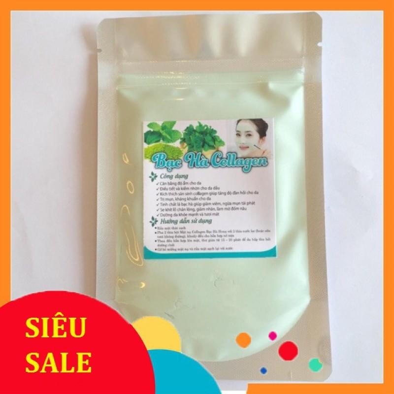 Bột đắp mặt nạ Dẽo bạc hà colagen 250g mờ vết thâm dưỡng trắng nhập khẩu