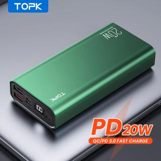 Sạc Dự Phòng TOPK PD 20W, Sạc Pin Ngoài Cho Điện Thoại Di Động 20000MAh Với Cáp Micro Usb Dành Cho iPhone Xiaomi Oppo I2006P thumbnail