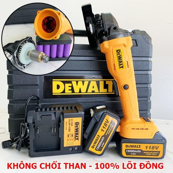 Máy mài pin cầm tay DEWALT 118v - 2 Pin 10 cell - Không chổi than - Lõi đồng 100% - Máy mài góc , Máy cắt pin , Máy mài cắt cầm tay - Máy cắt đá , cắt sắt - máy mài cầm tay