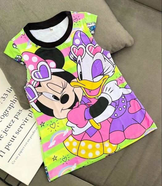 [HCM]Váy Đầm bé gái hàng mới về chất liệu thun dày mịn mát in hình 3D được các bé gái yêu thích M04 [8-40Kg]