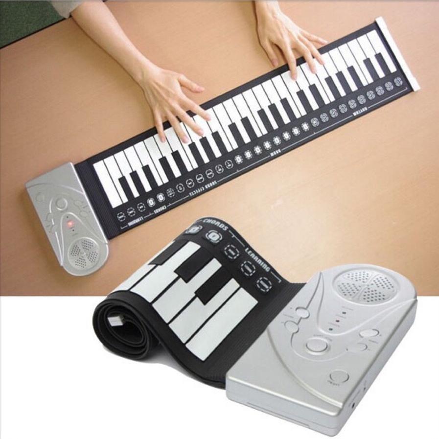 Đàn piano điện tử bàn phím cuộn dẻo 49 phím
