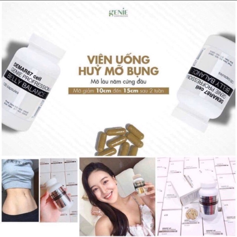 Hộp Belly Balance derma87 cell Genie cao cấp