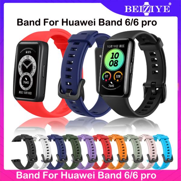 Dây đeo đồng hồ thông minh Huawei Band 6 pro Dây đeo thông minh Huawei Band 6 Dây đeo cổ tay silicon mềm cho Huawei Band 6 pro Dây đeo thay thế