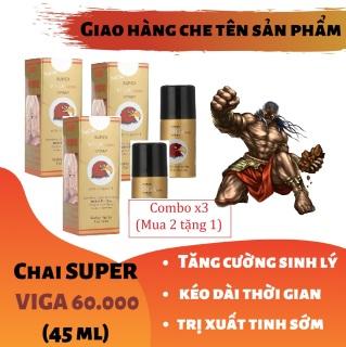 Combo x3 (Mua 2 tặng 1) (Công thức siêu đậm đặc) Chai xịt SUPPER VIGA 60000 tăng cường sinh lý cao cấp (45ml) thumbnail