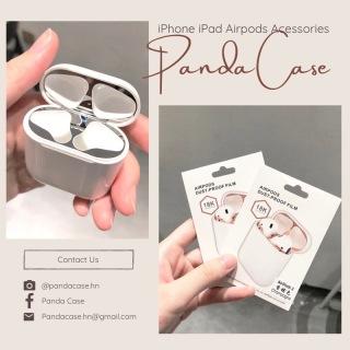 Skin Miếng dán kim loại, hút nam châm chống bụi, chống bẩn cho AirPods 1 2 Pro, màu nổi bật thumbnail