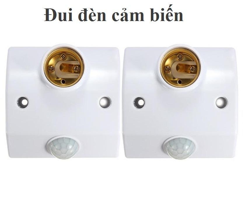 Combo 02 đui đèn Cảm Biến Hồng Ngoại Tự động Bật Tắt đèn Smart Power Có Nút Chỉnh Thời Gian (trắng) Đang Giảm Giá