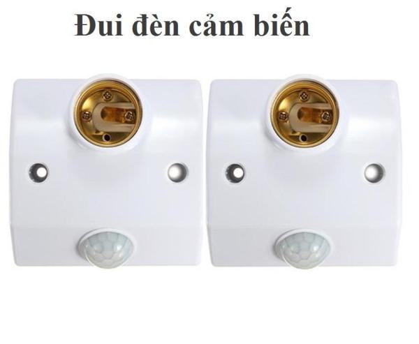 Combo 02 đui đèn cảm biến hồng ngoại tự động bật tắt đèn Smart power có nút chỉnh thời gian (trắng)