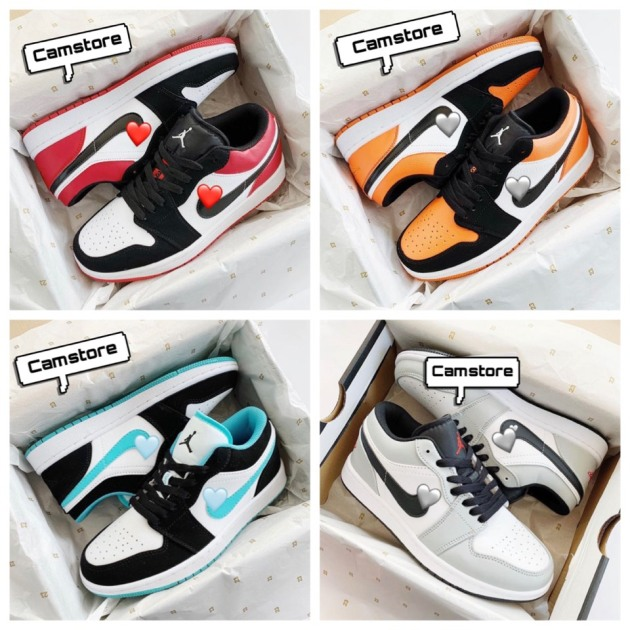 Giày JD 1 Cổ Thấp Sneaker Màu Vàng  Low Black Toe Phong Cách Đường Phố giá rẻ