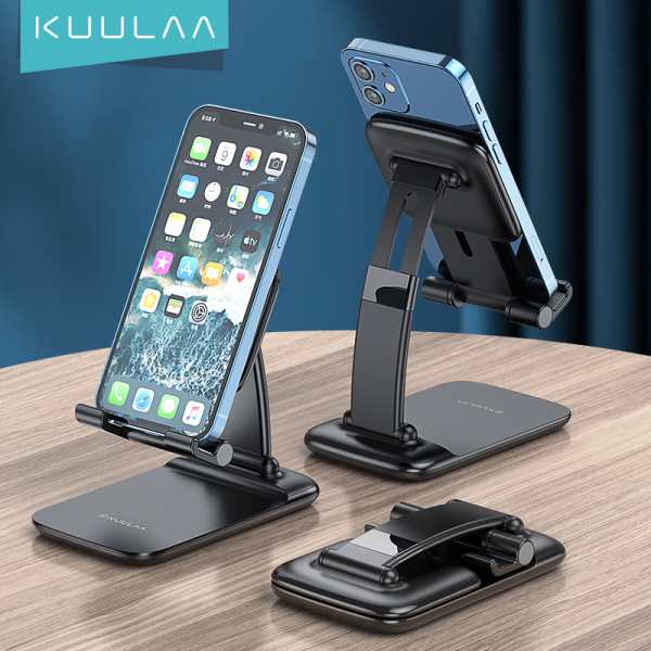 KUULAA Universal Phone Desk Holder Tablet Desktop Holder Telescopic Desktop Stand Adjustable Mobile Phone Support For iPhone iPad Huawei