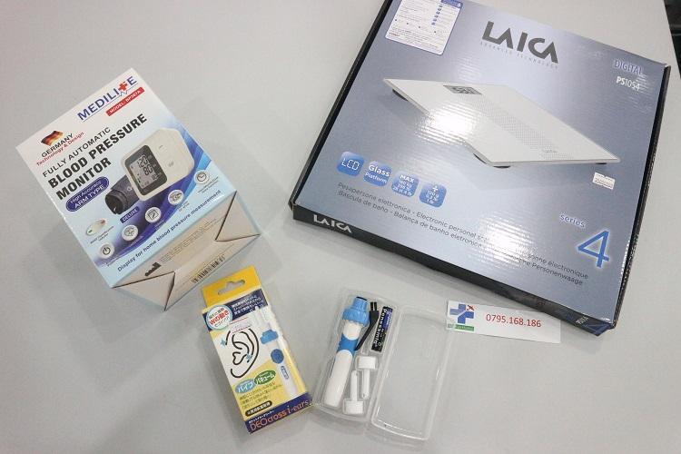combo máy huyết áp Medilife đức cân laica ý lấy ráy tai nhật bán chạy