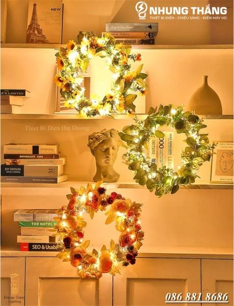 Bảng giá [ Nhiều Mẫu ] Vòng Hoa Treo Trang Trí Giáng Sinh Có Đèn -  Đường Kính 30cm,40cm - Chuyên Trang Trí Các Sự Kiện - Tặng PIN - Có Video