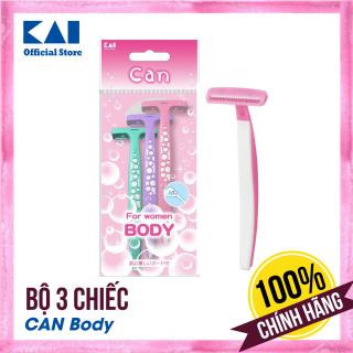 Set 3 chiếc dao cạo lông cơ thể cho nữ KAI Can Body nhỏ gọn tiện dụng Hàng nội địa Nhật Bản từ gian hàng chính hãng Dao cạo lông chân cạo lông tay cạo lông bikini cao cấp thumbnail