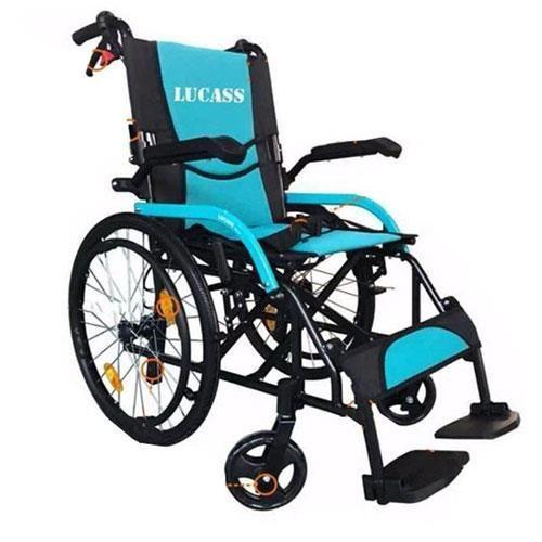 Xe lăn hợp kim nhôm Lucass X63 có nâng hạ chỗ để tay cho bệnh nhân chính hãng