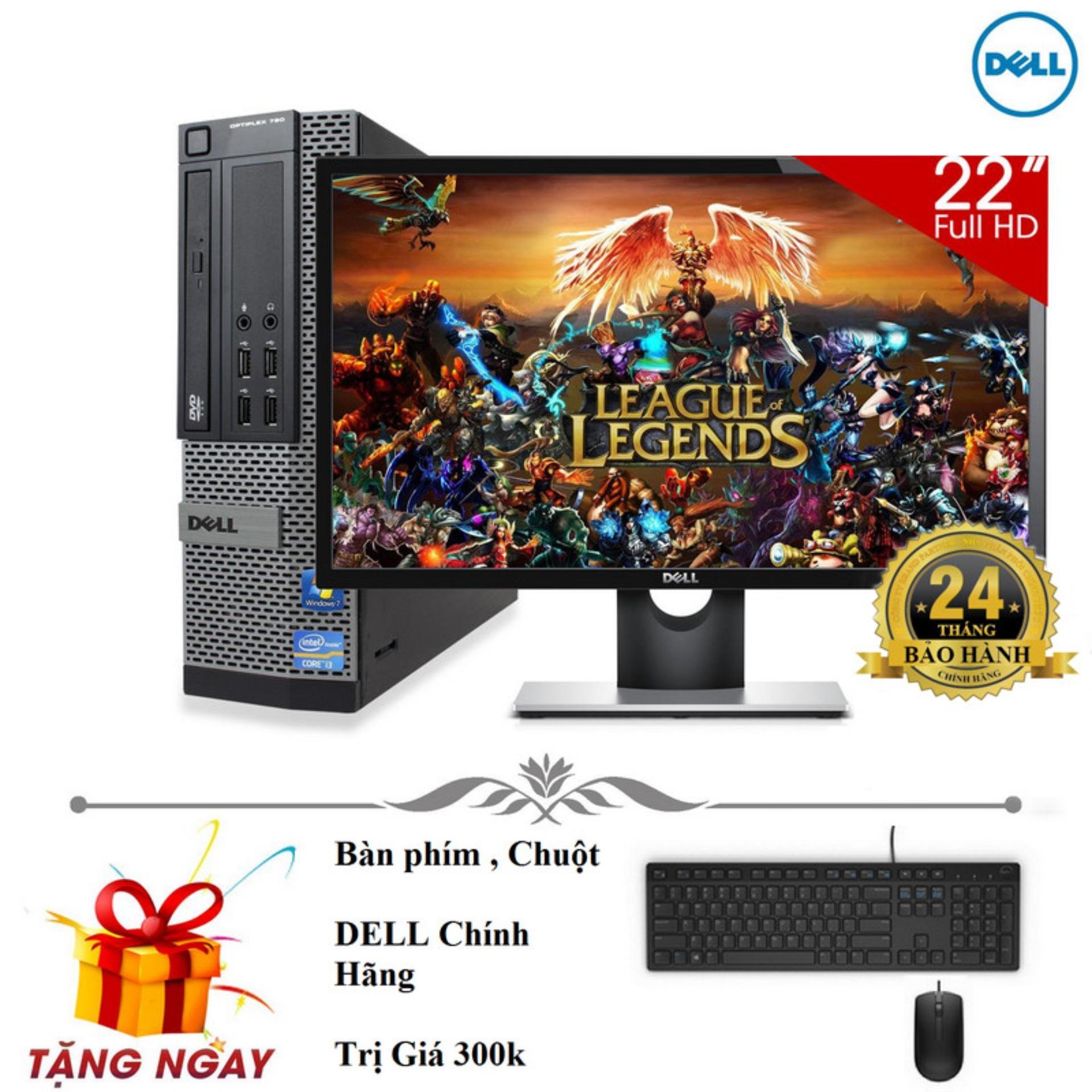 Bộ máy tính để bàn Dell Optiplex 9010 Core i5 3470, Ram 8gb, HDD 500gb Và Màn hình máy tính Dell 22 inch. Chuyên dùng tin học văn phòng, vẽ đồ họa, chơi game, chạy bền bỉ 24/24.Quà tặng bàn phím, chuột DELL, usb wifi. Bảo hành 2 năm.Hàng Nhập Khẩu