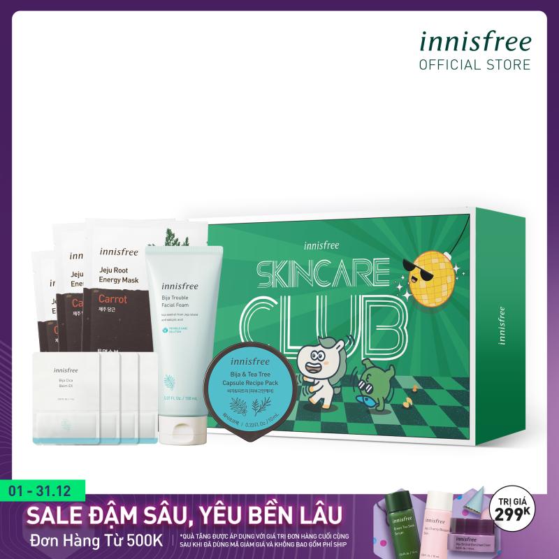 Combo Bộ sản phẩm dưỡng da và cấp ẩm dành cho da mụn Innisfree Bija giá rẻ