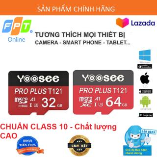 ( BẢO HÀNH 5 NĂM 1 ĐỔI 1 ) Thẻ nhớ 32Gb 64Gb YOOSEE U3 Class10 tốc độ cao chuyên dụng cho Camera wifi Điện thoại Hiệu suất cao tốc độ đọc nhanh thumbnail