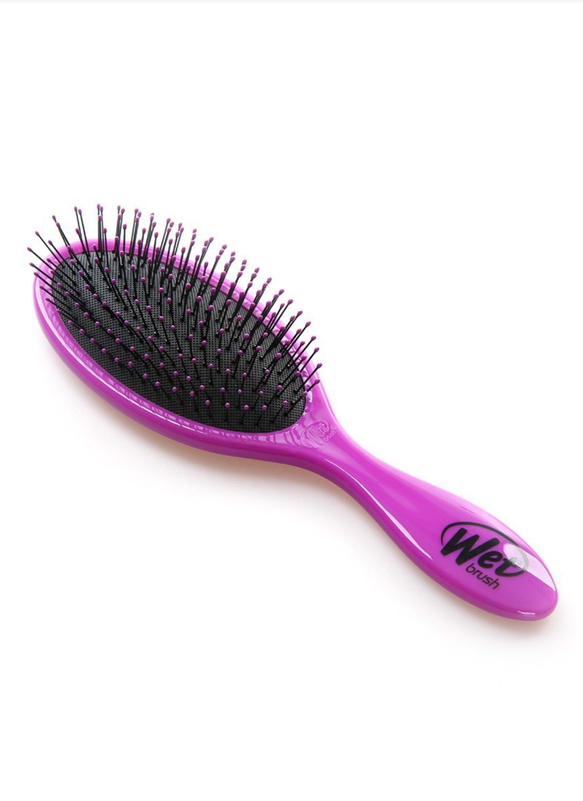Lược gỡ rối WET BRUSH - Peace Sticker Set (Purple) BWP830PEAC lược chải tóc gỡ rối truyền thống (màu tím) chính hãng