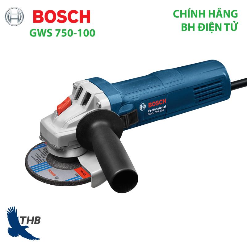 Máy mài góc Bosch GWS 750-100 hàng chính hãng Bảo hành 12 tháng Tốc độ cắt bỏ vật liệu cao