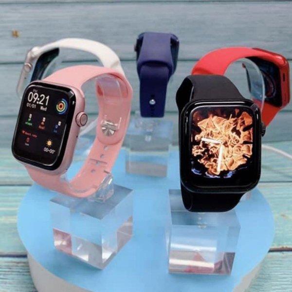 Đồng Hồ Thông Minh Watch 6 Phiên Bản Plus Thay Ảnh Nền Nghe Gọi Bluetooth 5.0 Chơi Game Theo Dõi Sức Khỏe