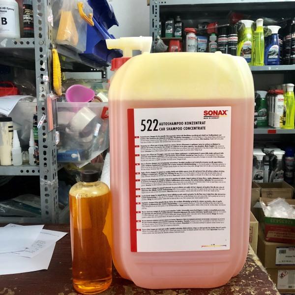 Xà Bông Rửa Xe Bọt Tuyết Siêu Bóng, Đậm Đặc Sonax Gloss Shampoo 1L (chiết từ can Sonax 25lit )