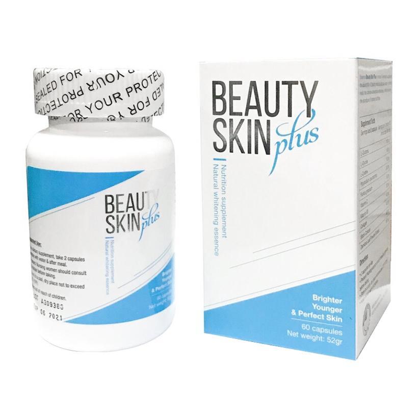Viên uống trắng da trị nám Beauty Skin Plus USA chính hãng (hộp 60 viên)