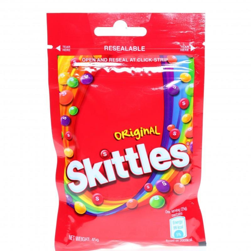 Kẹo Skittles Original hương trái cây gói 45g