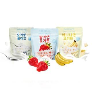 Combo 3 gói Sữa chua hoa quả sấy lạnh Bebedang - Vị dâu, chuối, sữa chua nguyên chất thumbnail