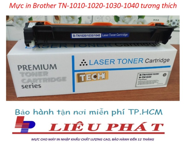 Bảng giá Mực in TN 1010, 1020, 1030, 1040 hộp dùng cho máy in Brother: DCP-1511, DCP-1601, DCP-1616NW, HL-1111, HL-1201, HL-1211W, MF-1811, MFC-1901, MFC-1916NW Phong Vũ
