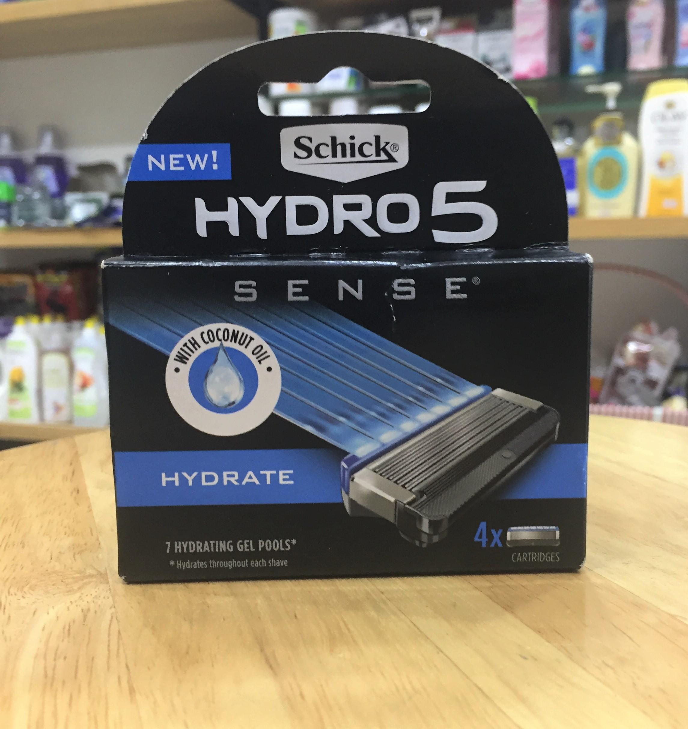 Hộp 4 Lưỡi dao cạo râu cao cấp Schick Hydro 5 của Mỹ tốt nhất