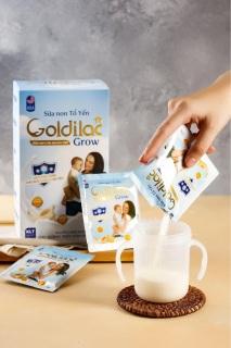 [HCM][Rẻ Vô địch] Sữa Non Tổ Yến Goldilac Grow Nguyên hộp 28 Gói - Giúp tăng cân cho trẻ thumbnail