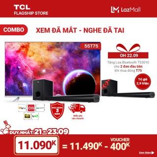 [ĐỘC QUYỀN LAZADA] Combo Xem Đã Mắt - Nghe Đã Tai - TV 55 Android 4K UHD 55T75 và Loa Bluetooth TS3010 thumbnail