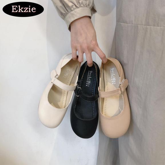 2021 phiên bản mới của nữ Anh Hàn của giày da nhỏ kết hợp tất cả các trận đấu, mùa hè Nhật Bản giày lolita đen phẳng giá rẻ