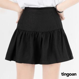 Chân váy tweed cạp cao ôm eo xòe dưới đen tingoan WINNIE SKIRT BL (có quần trong) thumbnail